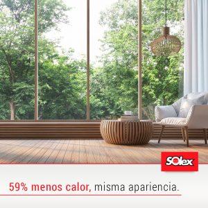 Peliculas Polarizadas de Alto Desempeño Solex.  Peliculas para ventanas con alto rendimiento de rechazo de calor y buena visibilidad